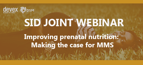 SID Joint Webinar – Improving Prenatal Nutrition: Making the Case for Multiple Micronutrient Supplements